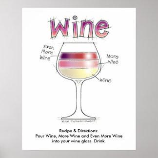 """WINE, MORE WINE, EVEN MORE WINE 16""""x20"""" Poster"""
