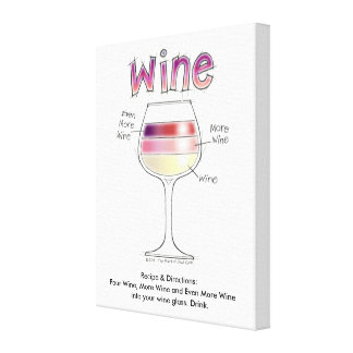 WINE, MORE WINE, EVEN MORE WINE CANVAS PRINT