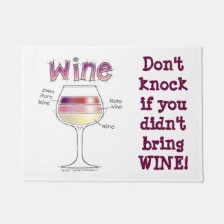 WINE, MORE WINE, EVEN MORE WINE DOORMAT 18'X 24