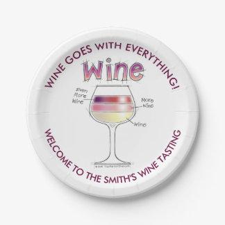 WINE, MORE WINE, EVEN MORE WINE PAPER PLATE