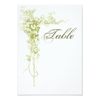 Wine motif table number card