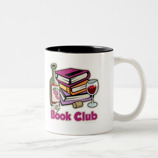 Wine: My Book Club Two-Tone Coffee Mug