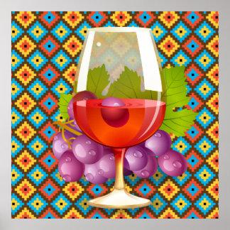 Wine n Grapes Poster