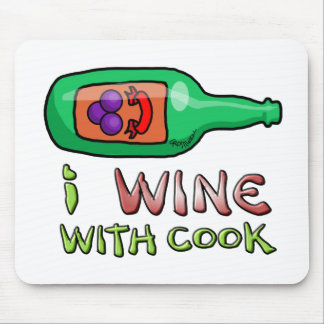Wine Nipping Mouse Pad