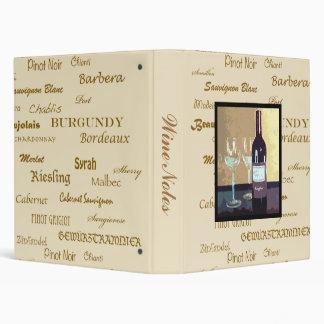 Wine notes Binder