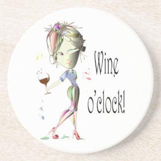Wine o clock Humorous Wine saying gifts Coasters