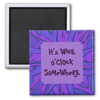 wine o clock somewhere refrigerator magnet