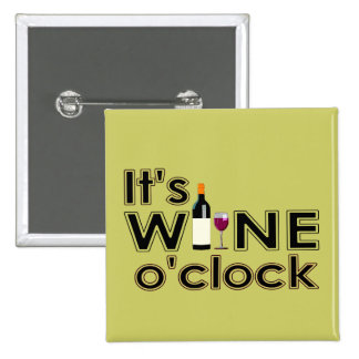 Wine O'Clock Pins