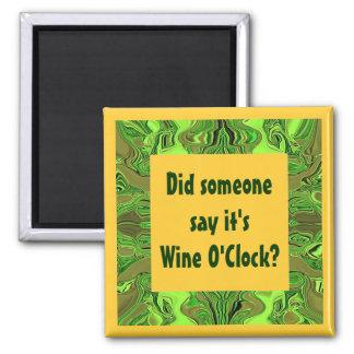 wine o'clock humor magnet