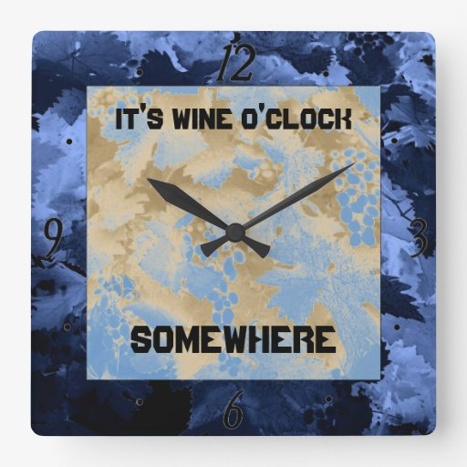 wine o'clock somewhere clock