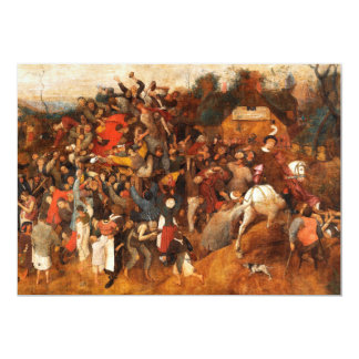 Wine of Saint Martins Day by Pieter Bruegel Card