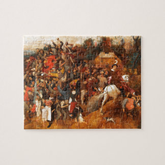 Wine of Saint Martins Day by Pieter Bruegel Jigsaw Puzzle