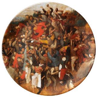 Wine of Saint Martin's Day by Pieter Bruegel Porcelain Plate