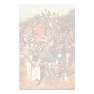 Wine of Saint Martins Day by Pieter Bruegel Stationery Paper