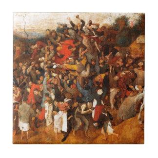 Wine of Saint Martins Day by Pieter Bruegel Tile