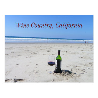 Wine On The Beach Postcard! Postcard