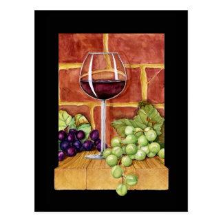 Wine on the Shelf Postcard