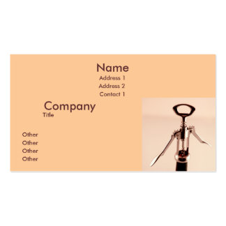 Wine Opener Business Card Template