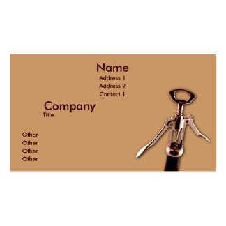 Wine Opener Business Card Templates