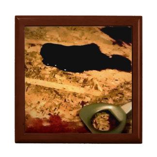 Wine opener with spill keepsake box