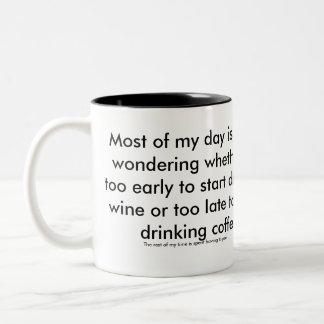 Wine or Coffee mug. The Outnumbered Mother. Two-Tone Coffee Mug