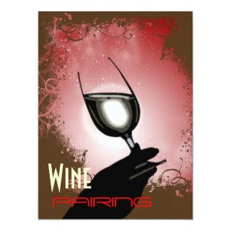 Wine pairing tasting party ~ elegant 6.5x8.75 paper invitation card