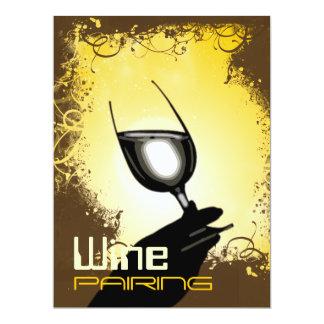 Wine pairing tasting party ~ elegant winemaker 6.5x8.75 paper invitation card