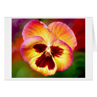 Wine Pansy 10x8 Paint Card
