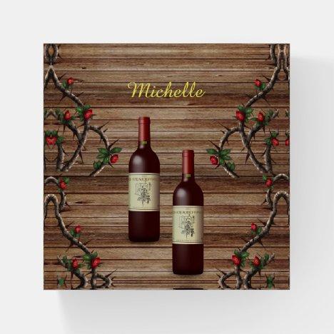 Wine Paperweight