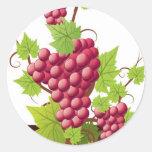 Wine party classic round sticker