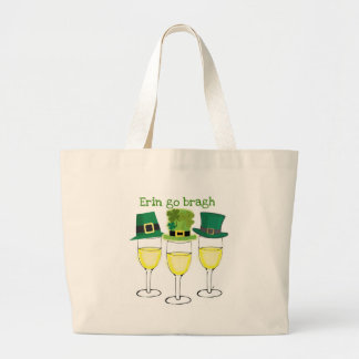 WINE PARTY ERIN GO BRAGH SAINT PATRICKS DAY TOTE BAGS