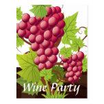 Wine party postcard