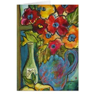 """Wine, Pears & Fleurs""  Greeting Card"