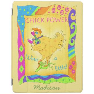 Wine pequeño un amarillo personalizado del poder cubierta de iPad