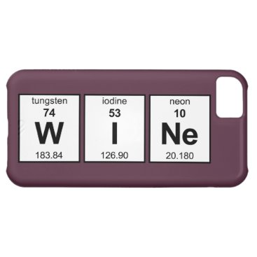 WINe Periodic Table Case For iPhone 5C