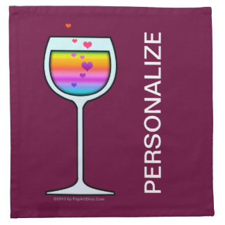WINE Personalizable Cocktail or Dinner NAPKINS