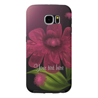 Wine Petals Floral with Text Samsung Galaxy S6 Case