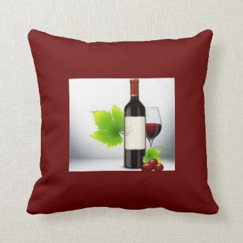Wine Photo Throw Pillow by creativeconceptss at Zazzle