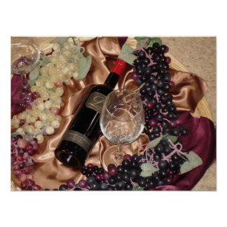 Wine Photo With Grapes Print