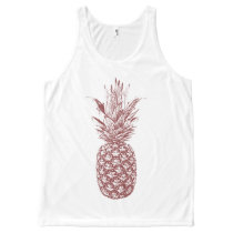 Wine Pineapple Tank Top
