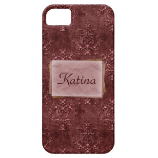Wine Pink Tapestry Print Case-Mate iPhone 5 iPhone 5 Covers