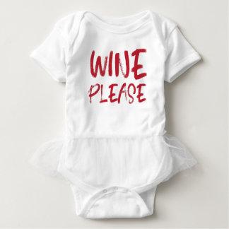 wine please (in red) baby bodysuit