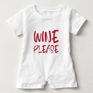 wine please (in red) baby romper