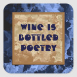 wine poetry sticker