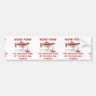 wine pong bumper sticker