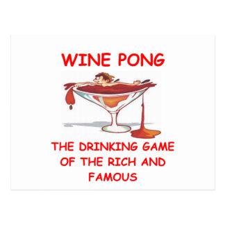 wine pong postcards