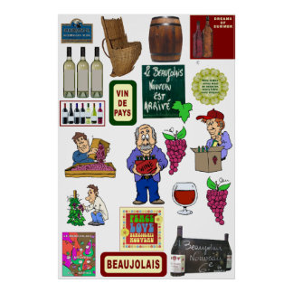 Wine poster, Beaujolais Nouveau