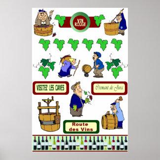 Wine poster, Route des vins Poster