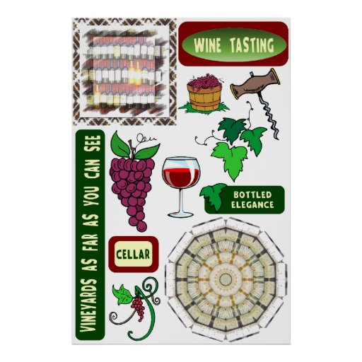 Wine poster, Wine tasting Poster