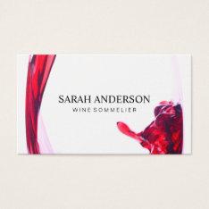 Wine Pour Business Card at Zazzle